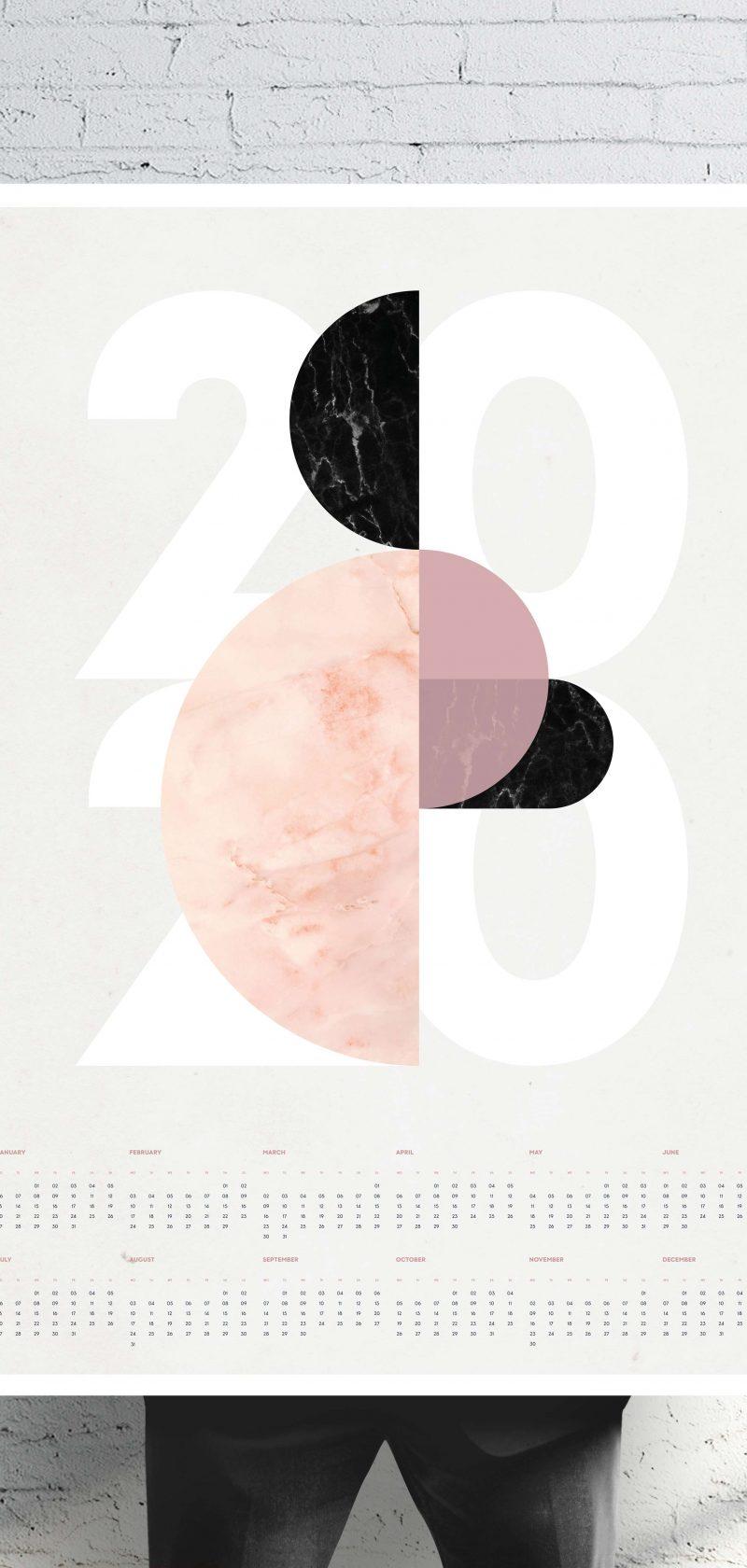Marble Mania Wall Calendar 2020